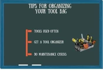 Tips for organizing your tool bag