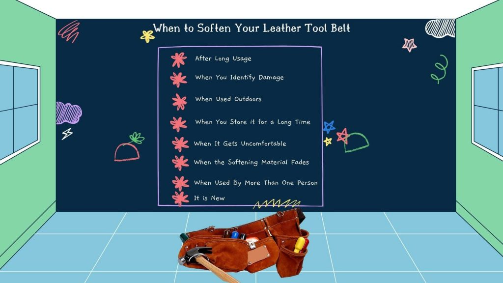 When to Soften Your Leather Tool Belt