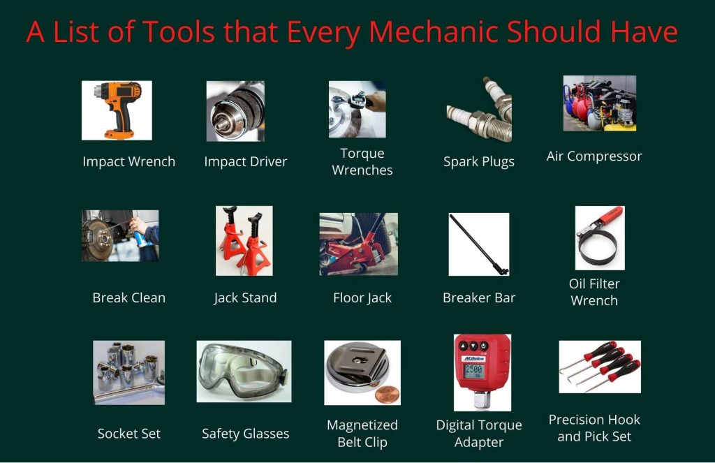 List of Tools that Every Mechanic