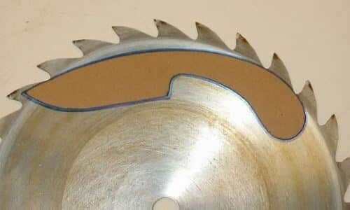 Creating the knife boundary on Saw Blade