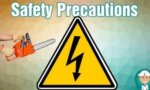 What are the safety precautions before using a chainsaw