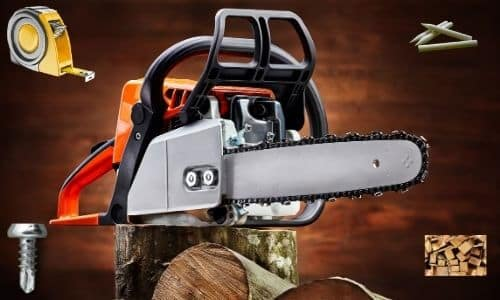 What are the tools required to cut wood slices with a chainsaw