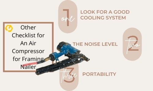 Checklist for air compression for nailer