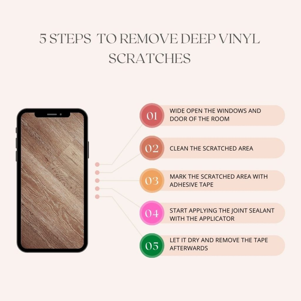 Steps How to Remove Deep Vinyl Scratches