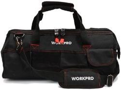 workpro 18-inch close top storage tool bag